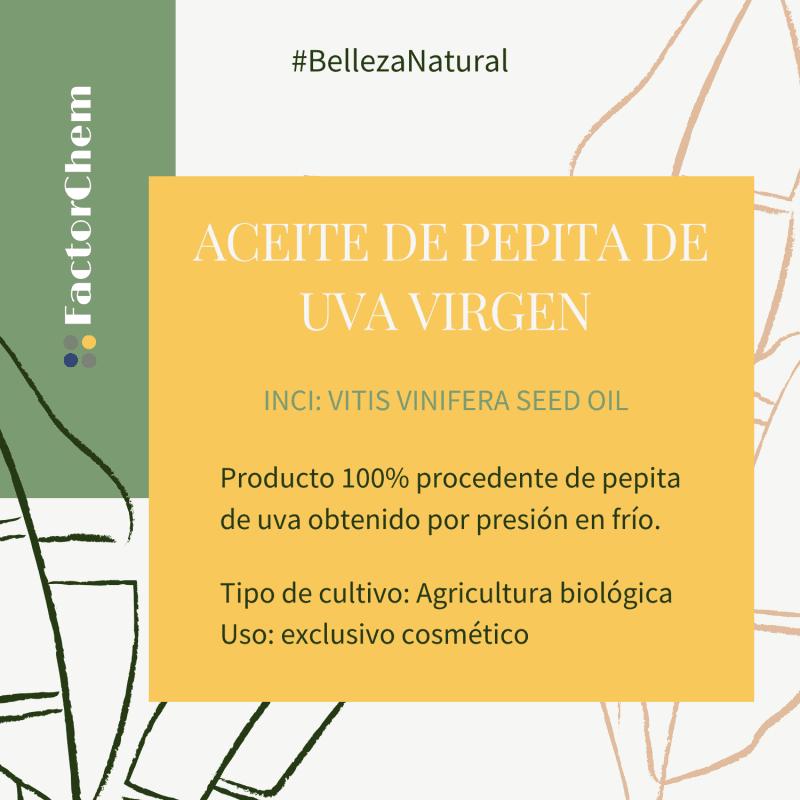 ACEITE DE PEPITA DE UVA VIRGEN BIO, NO GMO